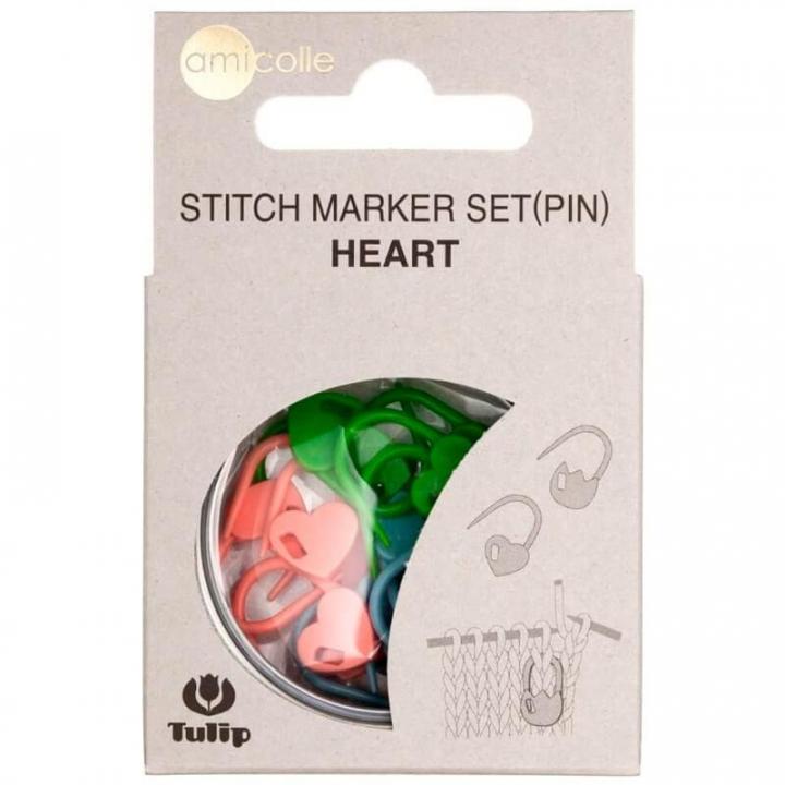 Conjunto de Marcadores de Pontos cadeado em formato coração  (AC-033E)