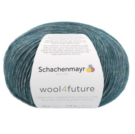 Fio wool4future cor 00065 - Verde petróleo