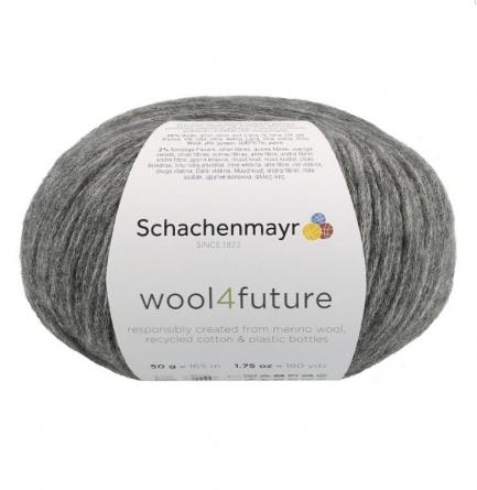 Fio wool4future cor 00098 - Cinzento Antracite