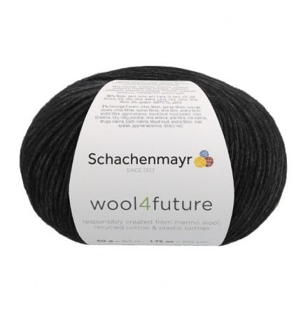 Fio wool4future cor 00099 - Preto
