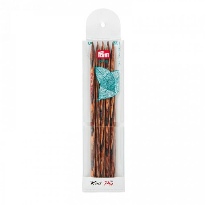 Conjunto de 5 agulhas de tricot de ponta dupla, natural, 20cm, 7 mm 223150