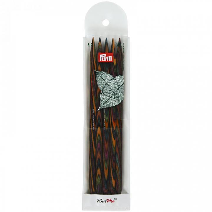 Conjunto de 5 agulhas de tricot de ponta dupla, natural, 20cm, 8 mm 223151