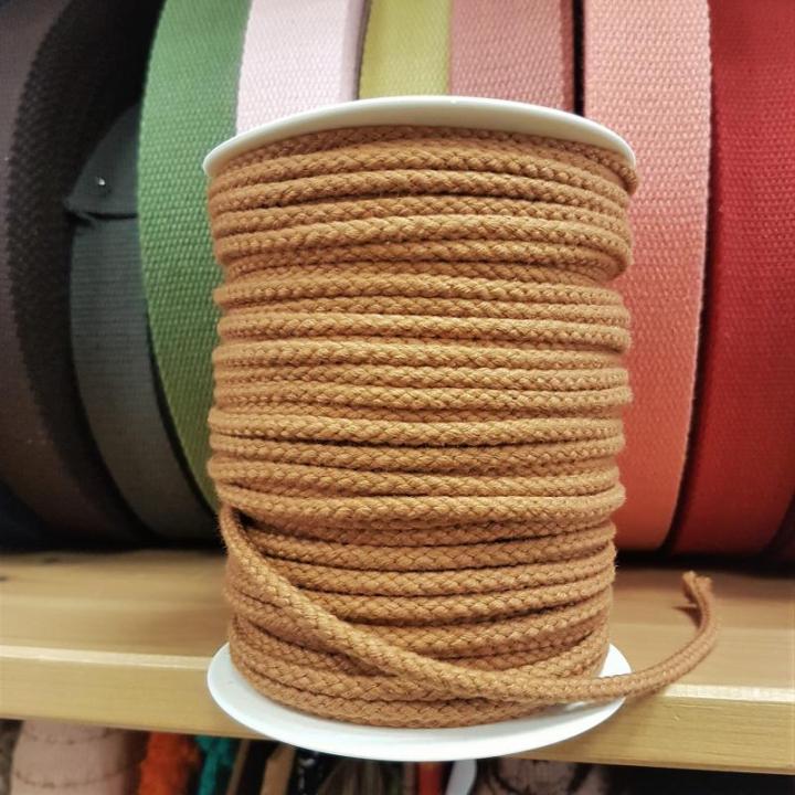 Cordão de Algodão Entrelaçado cor Tijolo 4mm