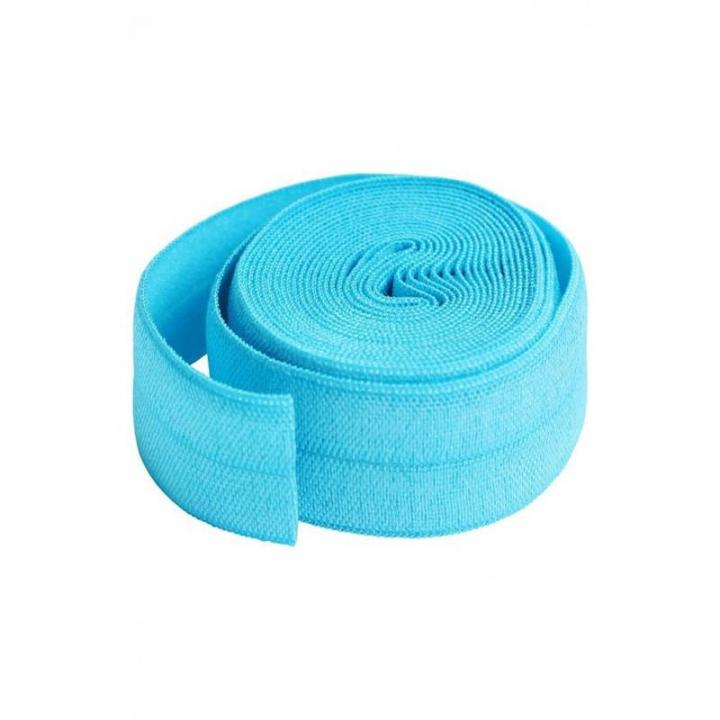 Fita de viés elástica de debrum azul