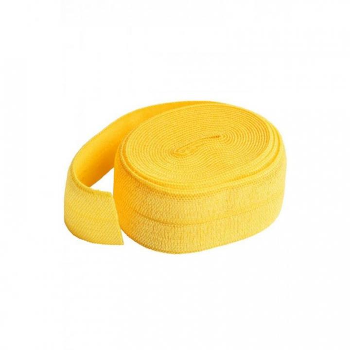 Fita de viés elástica de debrum amarelo