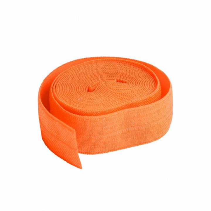 Fita de viés elástica de debrum laranja