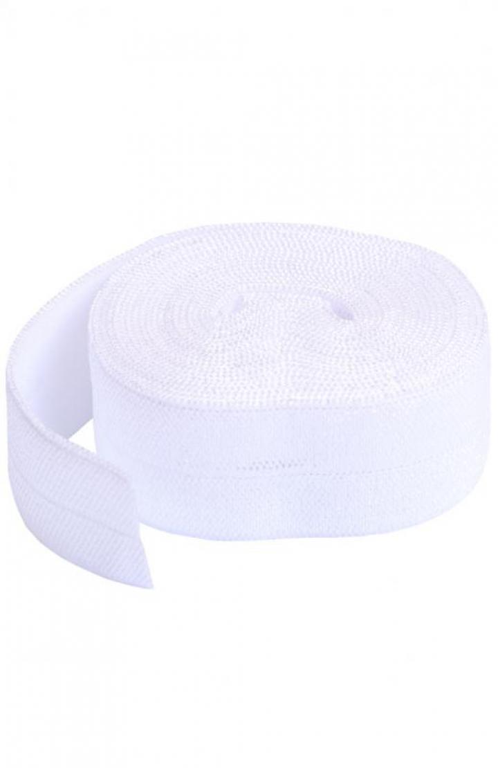 Fita de viés elástica de debrum branco