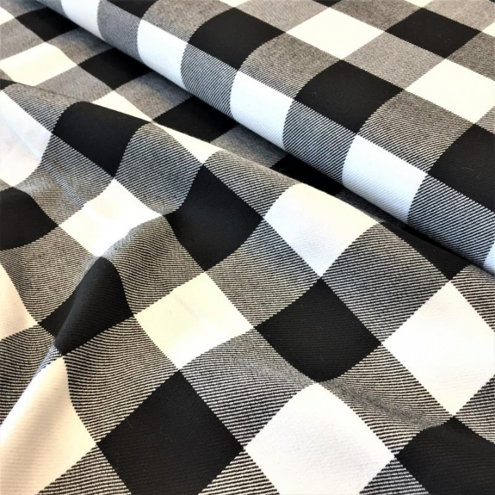 Tecido em Xadrez - Preto e Branco