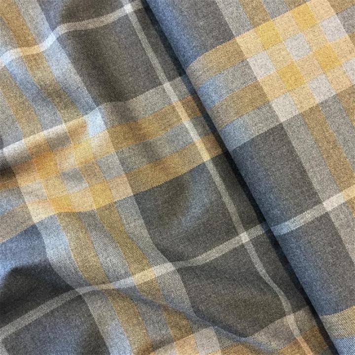 Tecido Tartan - Cinza e Amarelo
