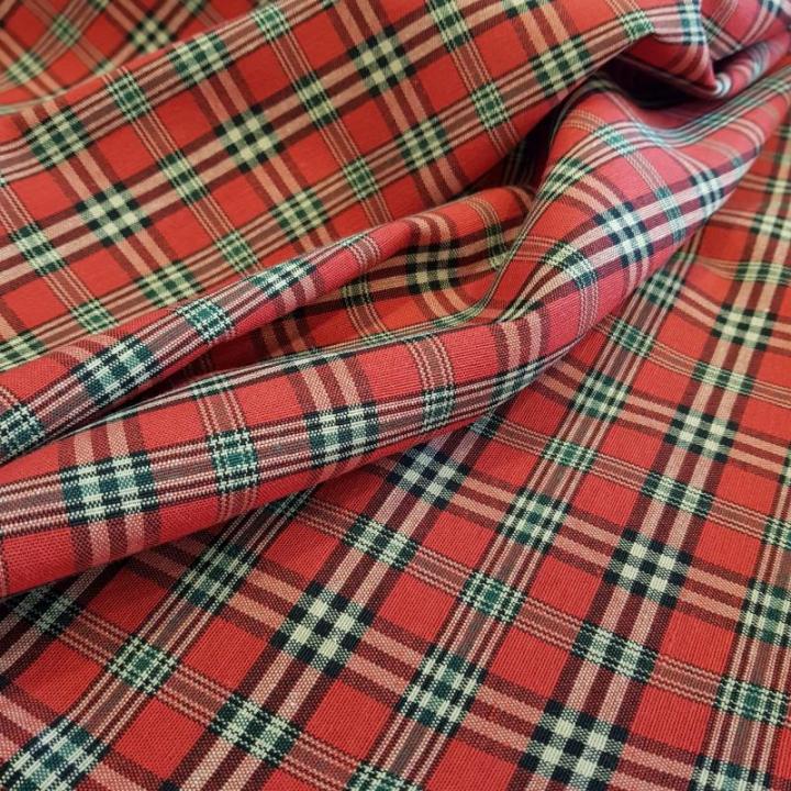 Tecido Escocia-011-L Vermelho