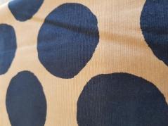 Tecido 100% algodão  big navy dots on beige corduroy NT-77220-21A