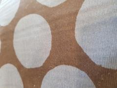 Tecido 100% algodão  big blue dots on navy corduroy NT-77220-21D
