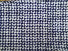 Malha Estampada Pied de Poule -  azul