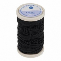 Carrinho de linha Coats Elastic cor preto 1000 10 m