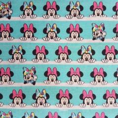 Tecido 100% Algodão - Minnie em fundo azul (Disney)