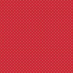 Tecido 100% Algodão - Pintinhas brancas em Vermelho
