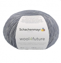 Fio wool4future cor 00055 - Azul