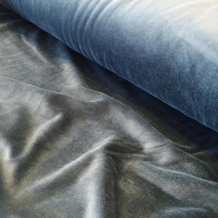 Tecido Jersey de Veludo - Cinza