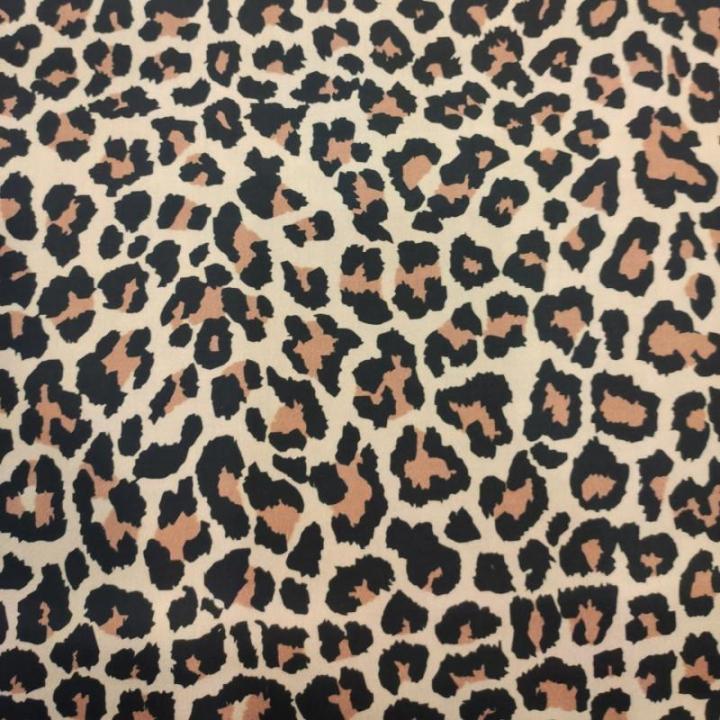 Tecido 100% algodão - Padrão Animal Print Leopardo