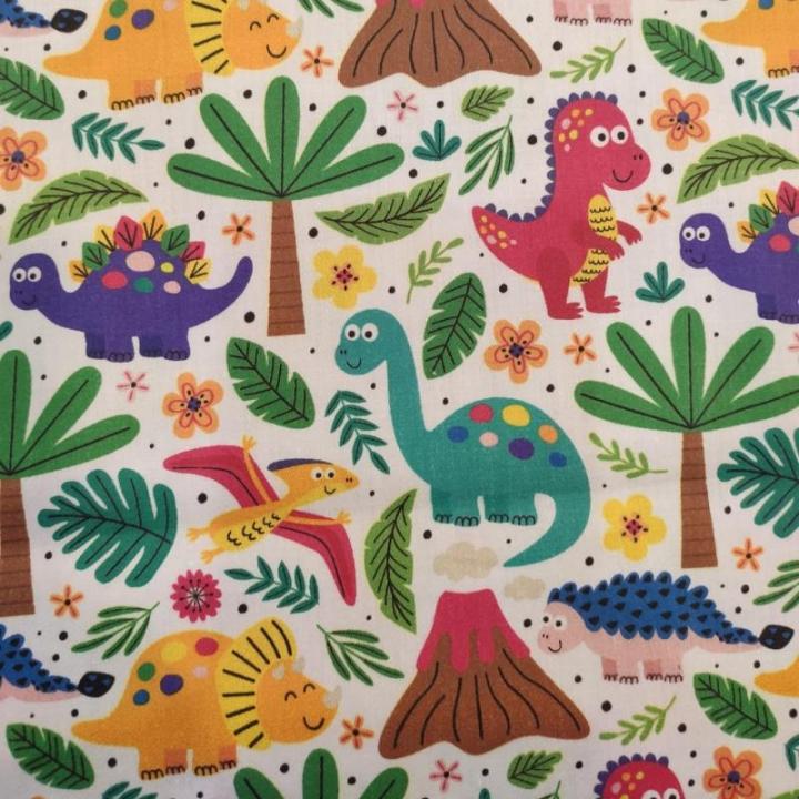 Tecido 100% algodão - Happy Dinossaurs Colorido