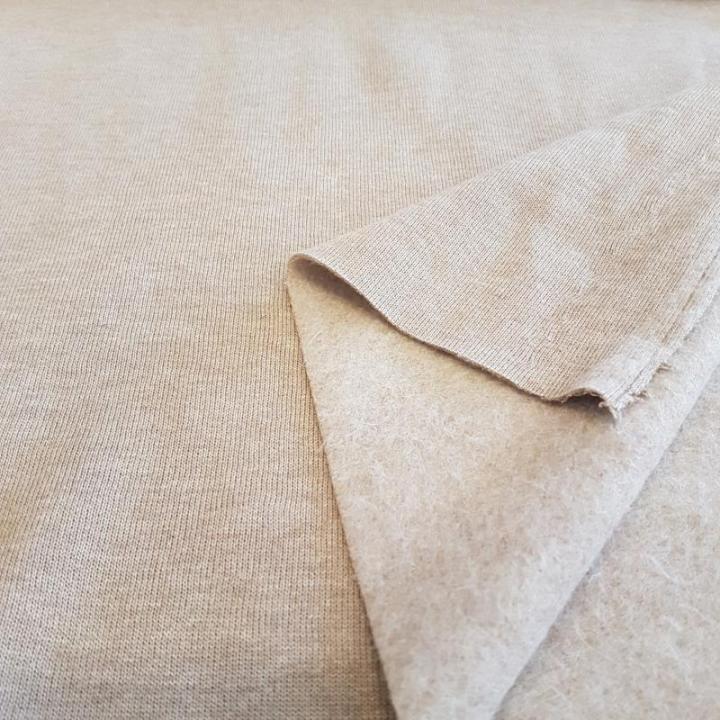 Malha Jersey Cardada c/ pêlo - Taupe