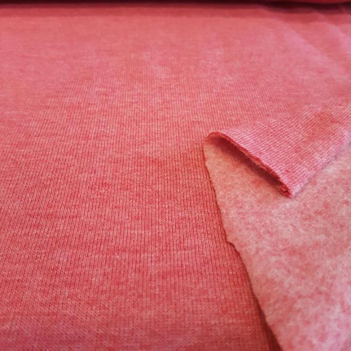 Malha Jersey Cardada c/ pêlo - Rosa