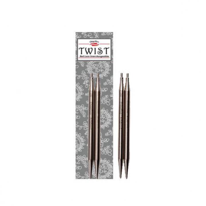 Pontas de agulhas de tricot intercambiáveis ChiaoGoo Twist Lace 13cm, 10.00mm